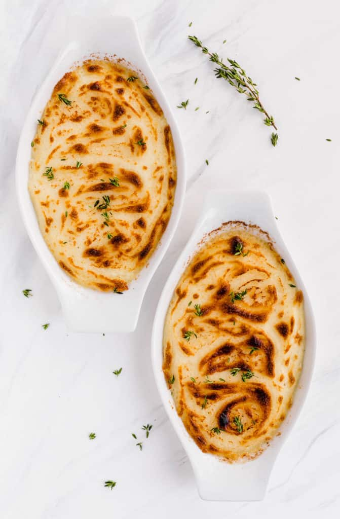 Herb-scented mashed potatoes
