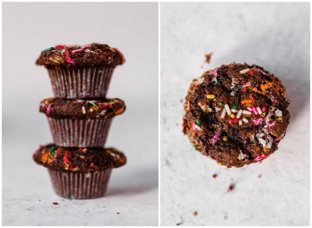 Chocolate funfetti mini muffins