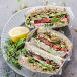 deconstructed falafel sandwich