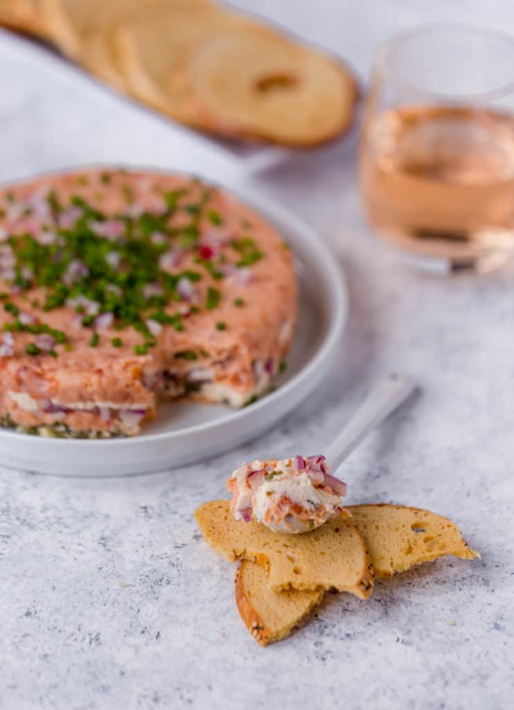 7-layer smoked salmon dip