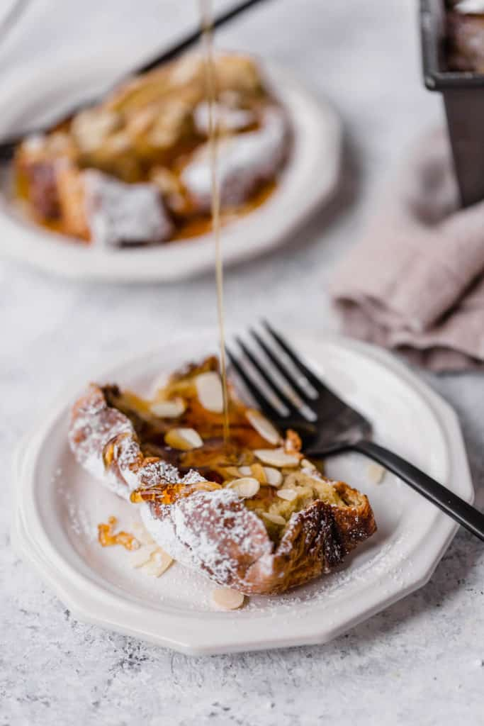 Baked vanilla almond french toast