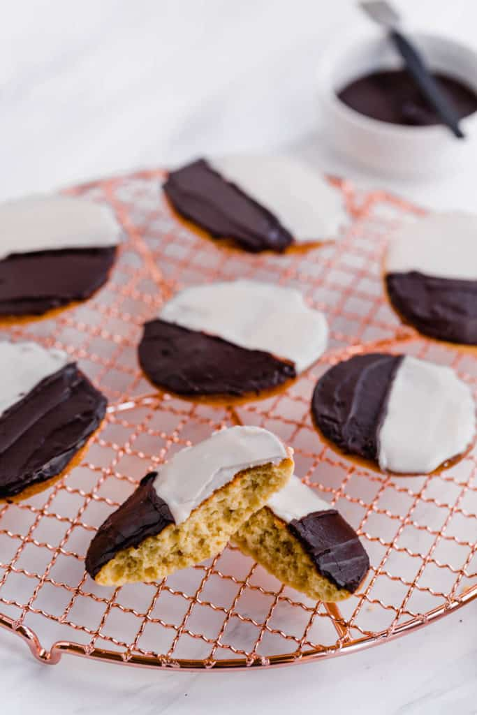 Bakery style black and white cookies