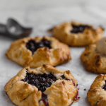 homemade blueberry galettes