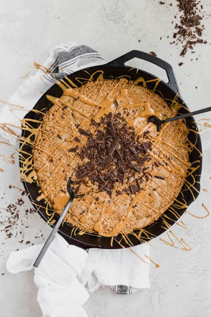 cookie butter skillet cookie