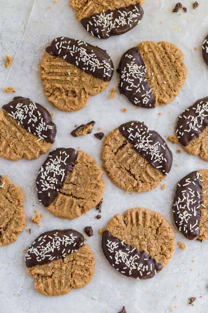 homemade gluten free peanut butter cookies