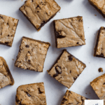browned butter blondies with crackly top