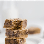 stacked homemade browned butter blondies