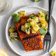 Grilled Blackened Salmon with Pineapple-Avocado Salsa