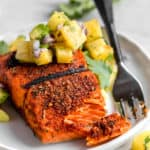 grilled blackened salmon with pineapple salsa