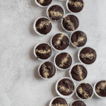 dark chocolate peanut butter s'mores cups