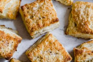 Cheddar and Sage Biscuits with Honey and Rye