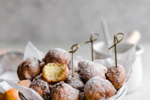 Ricotta Fritters with Chocolate Cara Cara Sauce