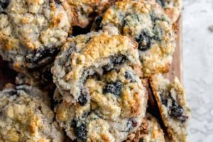 Coffee Kissed Blueberry Scones