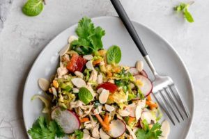 Warm Brussels Sprouts Slaw with Asian Sesame Vinaigrette