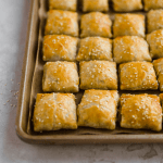 Israeli bourekas with spinach and feta
