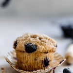 greek yogurt muffins with blueberry and streusel