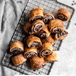 rugelach with chocolate raspberry filling for every day!