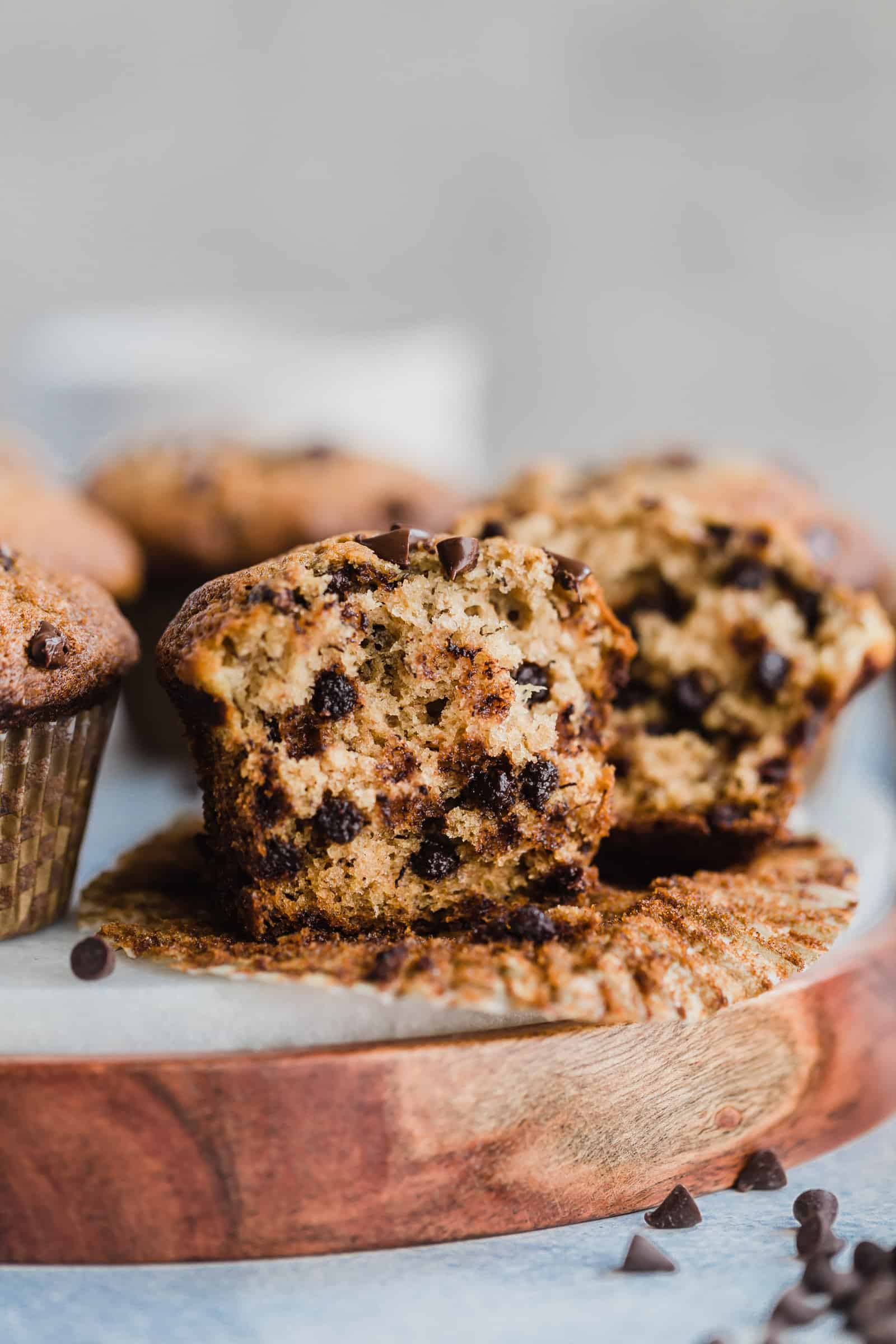 Easy Banana Chocolate Chip Muffins Well Seasoned Studio