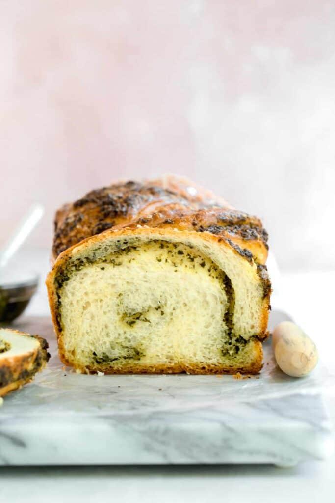 braided pesto loaf