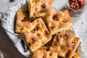 Roasted Garlic and Sun-Dried Tomato Focaccia