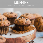 homemade banana chocolate chip muffins