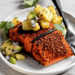 easy weeknight grilled blackened salmon with pineapple