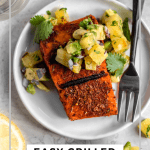 simple grilled salmon with pineapple salsa