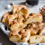 roasted garlic focaccia with sun-dried tomatoes