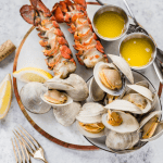 easy grilled lobster tails and clams
