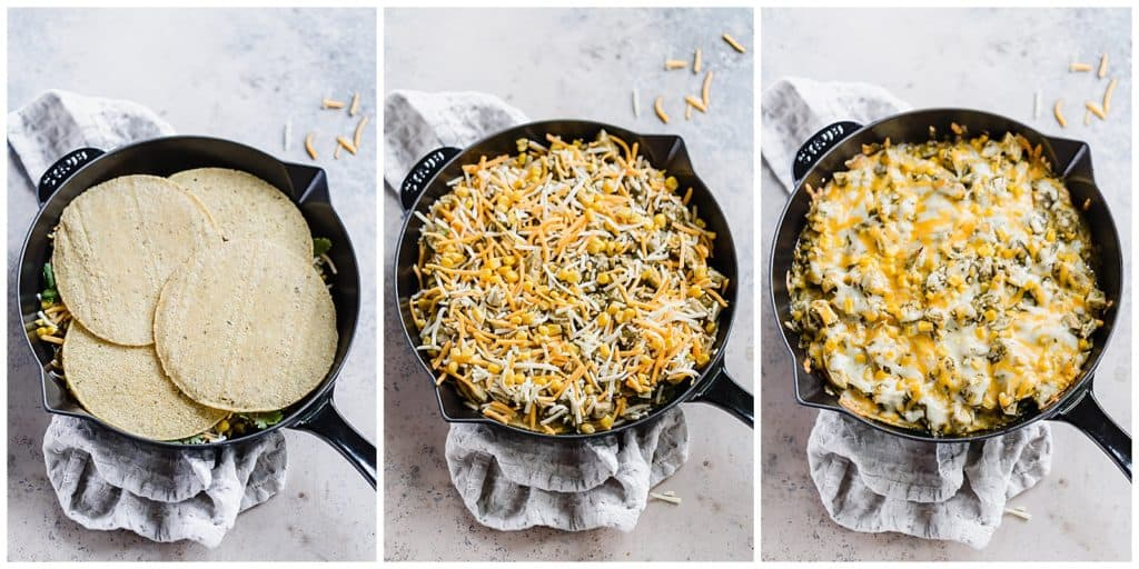 how to assemble an enchilada skillet