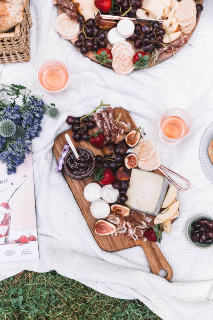 summer picnic cheese board