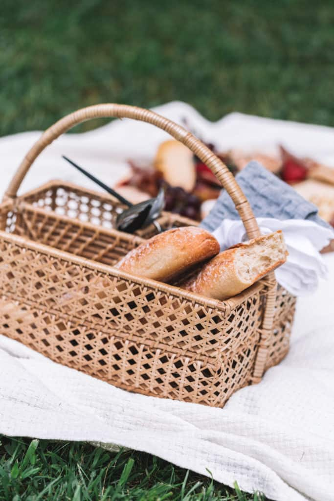 bread basket for summer picnic