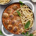 chicken meatballs with sun-dried tomatoes and basil
