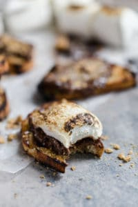 s'mores crostini with roasted marshmallow
