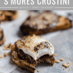 classic s'mores made on the grill