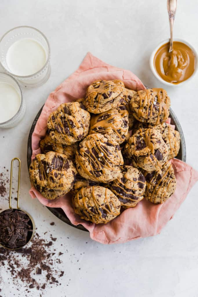 bakery-style dark chocolate cookie butter cookies