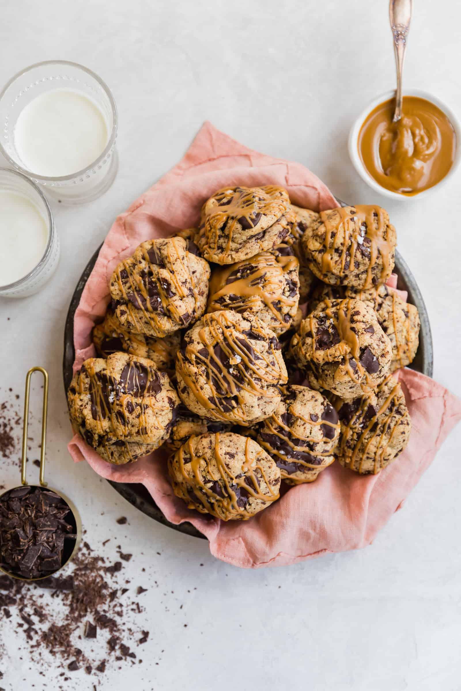bakery-style dark chocolate cookie butter cookies