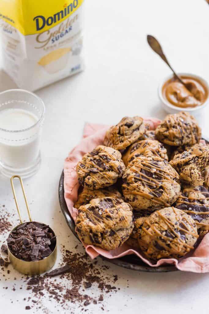 dark chocolate cookie butter cookies