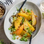 Roasted Golden Beets with Horseradish