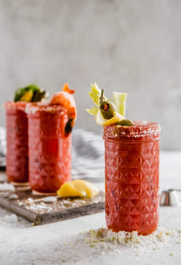 simple homemade bloody marys
