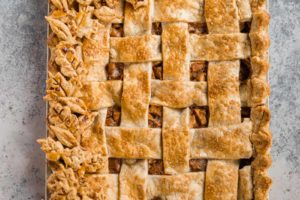 Salted Caramel Apple Slab Pie