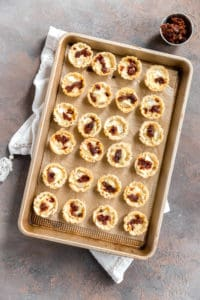 phyllo cups with brie and sun dried tomatoes