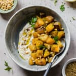 Roasted Butternut Squash with Za'atar and Lemon Tahini Sauce