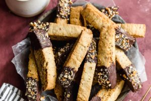 Chocolate-Dipped Biscotti with Pecans
