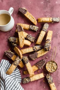 chocolate dipped pecan biscotti