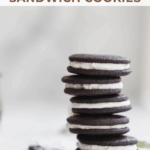 stack of mint chocolate sandwich cookies