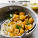 roasted butternut squash with za'atar and tahini