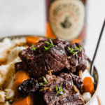 slow cooked short ribs with rye