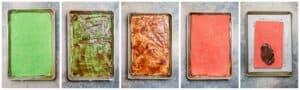 how to assemble italian rainbow cookies