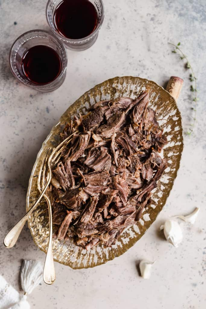 shredded braised beef ribs